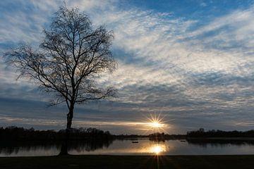 Zonsondergang bij 't Hilgelo te Winterswijk van Robert de Jong
