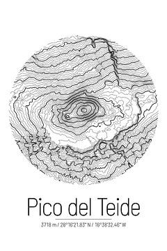 Pico del Teide | Topographie de la carte (minimum) sur ViaMapia