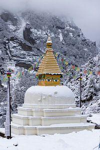 Stupa bij de intree van Namche Bazaar