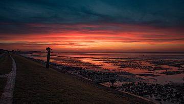 Moment en or pour le lever du soleil Vlieland 21 fév. 2021