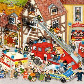 Feuerwehr in meinem Dorf von Marion Krätschmer