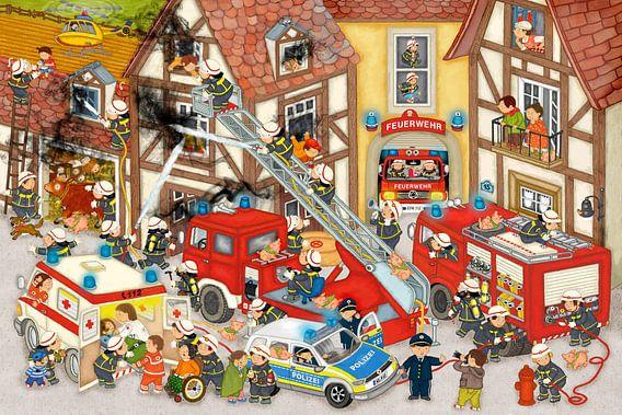 Feuerwehr in meinem Dorf