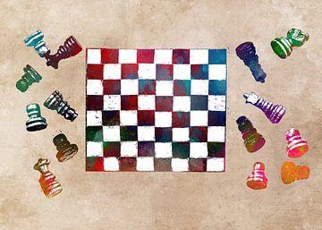 schaak #schaak #sport van JBJart Justyna Jaszke