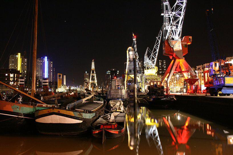 A night in Rotterdam van Paul Optenkamp