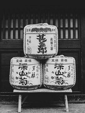 Sake-Fässer in Takayama, Japan von Roger VDB