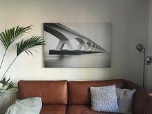 Klantfoto: Zeelandbrug van Marc Arts, op canvas