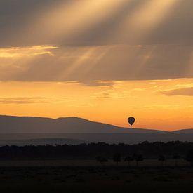 morning has broken in Masai Mara van Aline van Weert