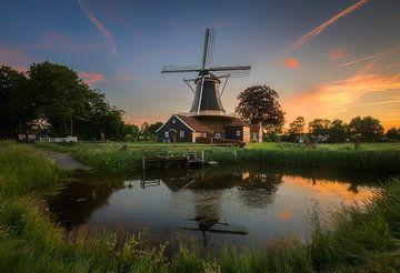 Pelmolen Ter Horst  sunset #1 sur Edwin Mooijaart