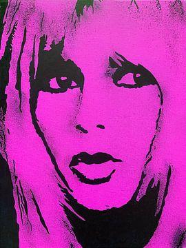 Brigitte Bardot BB von Kathleen Artist Fine Art