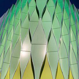 Architectuur detail van gebouw Groningen van Marianne van der Zee