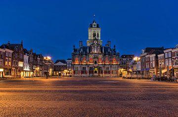 De Markt in Delft van Charlene van Koesveld