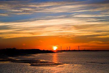 Zonsondergang boven de Oosterschelde van Emajeur Fotografie