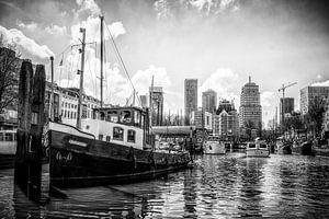 sleepboot Johanna in Haringvliet Rotterdam van