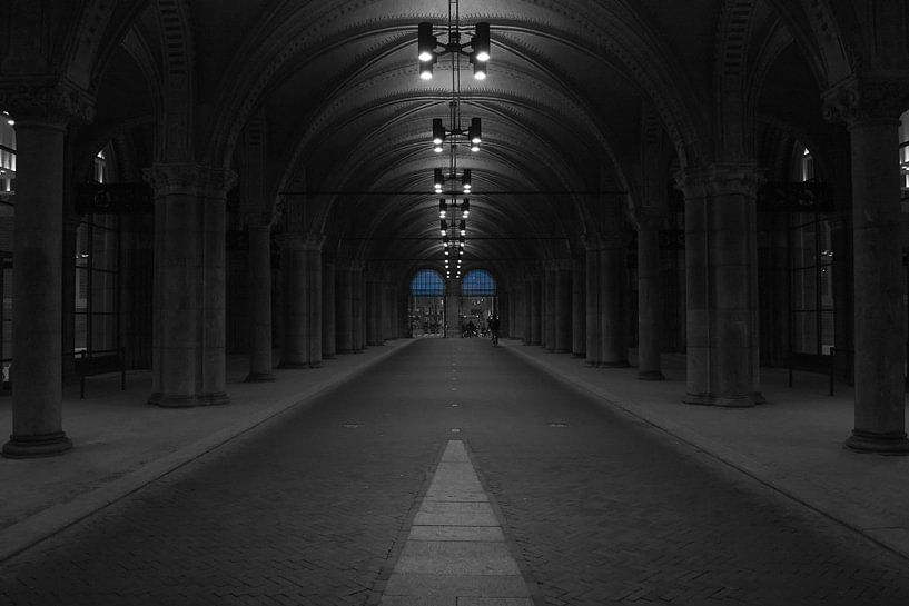 Rijks Museum in de vroege ochtend van Peter Valentijn