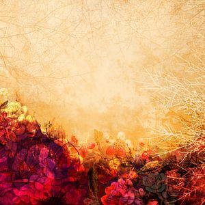 LOVELY FLOWERS KISSING A YELLOW FIELD II van