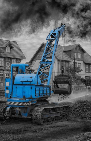 crane for coal loading steam locomotive van Compuinfoto .