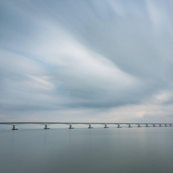 Lange sluitertijd Zeelandbrug (I) van Mirjam Boerhoop - Oudenaarden