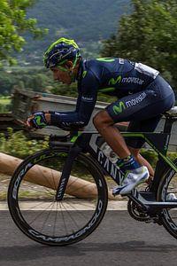 Nairo Quintana In de Race om nr. 1 stand in het eind classement van de Tour de France 2016(Sallanc