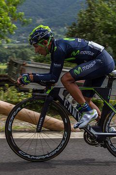 Nairo Quintana In de Race om nr. 1 stand in het eind classement van de Tour de France 2016(Sallanc van Jeroen Somers