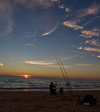 zonsondergang vissers van Bram van Elk