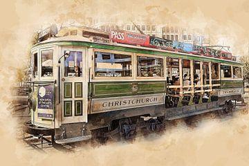 Historische Straßenbahn in Christchurch von Peter Roder