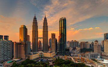Petronas Torens, Kuala Lumpur, Maleisië van Adelheid Smitt