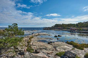 rotsen aan de zweedse oostkust