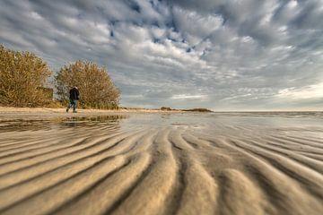 Herbststimmung und der Strand von Mirns im Südwesten von Friesland von Harrie Muis
