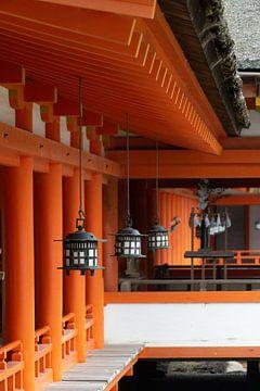 Tempel Miyajima Eiland van Melanie Jahn
