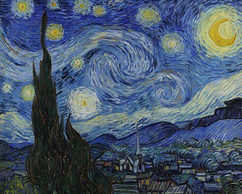 *HD* Schilderij Vincent van Gogh, De Sterrennacht