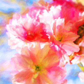 Kirschblüten am Wasser van Dagmar Marina