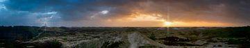 Panoramisch uitzicht op het Noord-Friese eiland Amrum in Duitsland van 3QuarksMedia