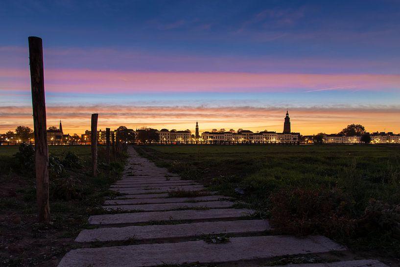 Zutphen / Sunrise over Zutphen van Harm Rhebergen