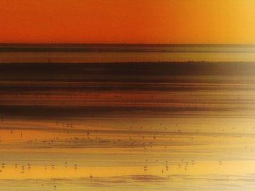 Le Crotoy zonsondergang van Joost Hogervorst