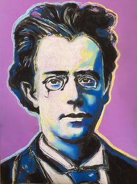 Porträt Gustav Mahler von Helia Tayebi Art