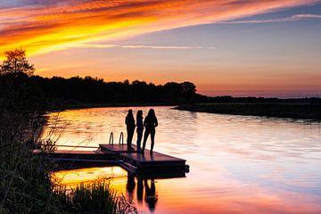 Silhoutten langs de rivier de Vecht von Evert Jan Luchies