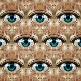 Look (regelmatig patroon van ogen) van Ruben van Gogh