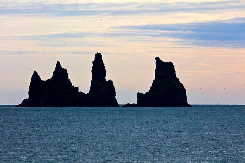 Reynisdrangar te IJsland van Anton de Zeeuw