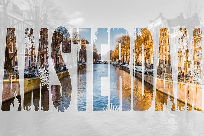 Amsterdamse gracht van Koop je Canvas