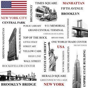 Symbols of New York City van Bart van Dinten