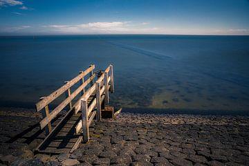 Waddendijk Vlieland - houten stelling van Vlielandplaatjes