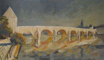 Sankt Servatiusbrücke, Huldigung an Christo. von Nop Briex