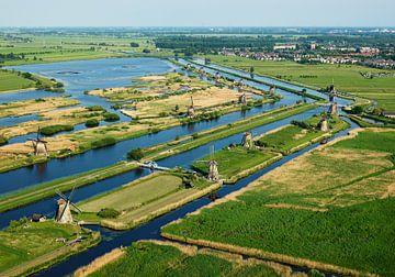 De molens van Kinderdijk van Sky Pictures Fotografie