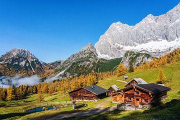 Berglandschaft mit Almen in Österreich von Coen Weesjes