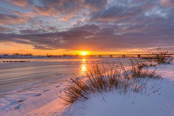 Reevediep Kampen in de sneeuw van Fotografie Ronald