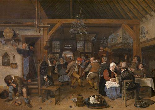 Jan Steen - Huwelijksfeest van 1000 Schilderijen