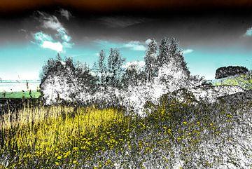 Gestoord Landschap #011 van Peter Baak