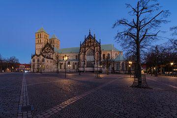 Der Dom zu Münster, während der Blauen Stunde