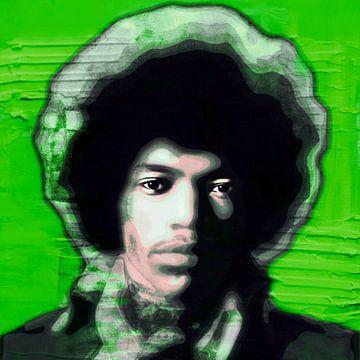 Motief Jimi Hendrix Ultra HD - Vintage Green van Felix von Altersheim