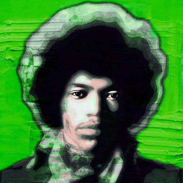 Motiv Jimi Hendrix Ultra HD - Vintage Green von Felix von Altersheim